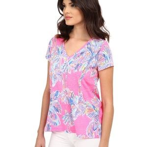 Lilly Pulitzer Etta Top - Nice Stems - Size M